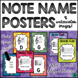 Music Bulletin Board: Note Name Music Posters