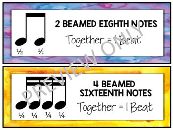 Music Bulletin Board: Notes and Rests Music Decor