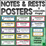 Music Classroom Decor: Notes and Rests Music Posters