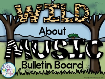 Music Bulletin Board {Safari Animals and Advocacy}