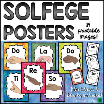Music Bulletin Board: Solfege Hand Sign Music Posters
