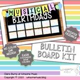 Music Bulletin Board Kit - MUSICAL BIRTHDAYS