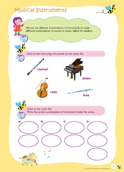 Music Bumblebees Aural & Theory Digital Version - Music Concepts - Instruments