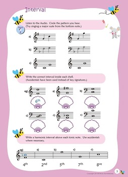 Music Bumblebees Aural & Theory Digital Version - Music Concepts - Interval