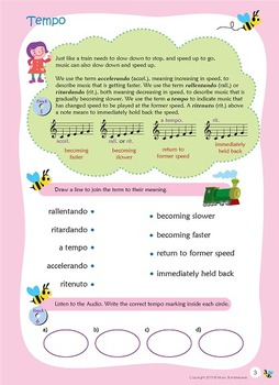 Music Bumblebees Aural & Theory Digital Version - Music Concepts - Tempo