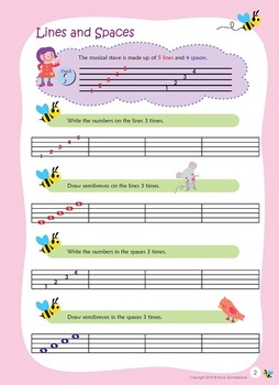 Music Bumblebees Aural & Theory - Music Concepts - Notes on Musical Stave