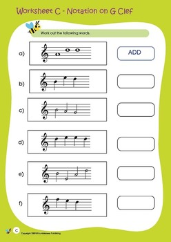 Music Bumblebees Aural & Theory Workbooks Free Additional Worksheets with MP3