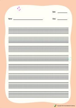 Music Bumblebees Free Blank Worksheet - Musical Stave