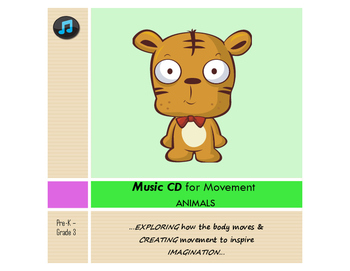 Music CD - ANIMALS - Pre-K-3