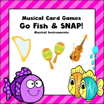 Music Card Game-Go Fish and Snap-Instrument Version