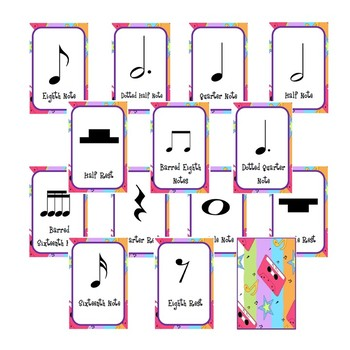 Music Card Game-Go Fish and Snap (Note Values)