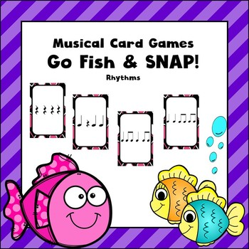 Music Card Game-Go Fish and Snap-Rhythm Version-Great for Stations