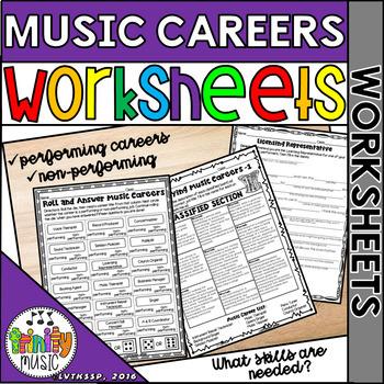 Careers in Music (Music Careers) - Worksheets