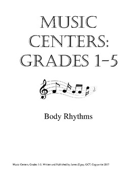 Music Centers Grade 1 to 5: Body Percussion