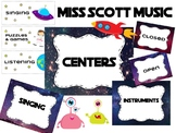 Music Center Chart (Space Theme)