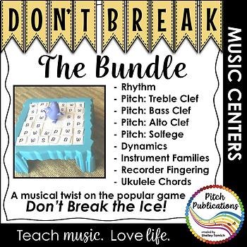Music Center: Don\'t Break the Music Bundle! Pitch, rhythm, dynamics ...