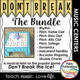 Music Center: Don't Break the Music Bundle! Pitch, rhythm,
