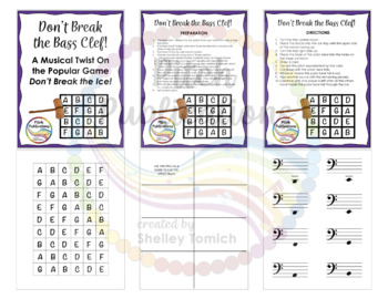 Music Center: Don't Break the Pitches! - Bass Clef Pitch Note Reading Game