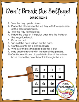 Music Center: Don't Break the Pitches! - Solfege Pitch Note Reading Game