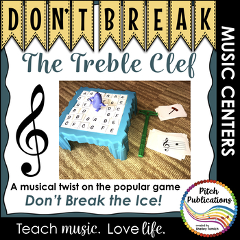 Music Center: Don't Break the Pitches! - Treble Clef Pitch Note Reading Game