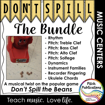Music Center: Don't Spill the MUSIC BUNDLE! Pitch, rhythm, dynamics, & more!