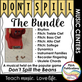 Music Center: Don't Spill the MUSIC BUNDLE! Pitch, rhythm,