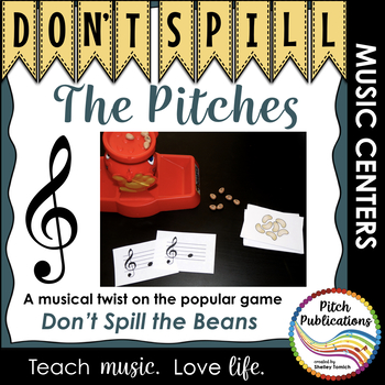 Music Center: Don't Spill the Pitches! - Treble Clef Pitch Note Reading Game
