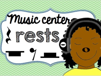 Music Center Rests - Whole, Half, Quarter, and Eighth Rest
