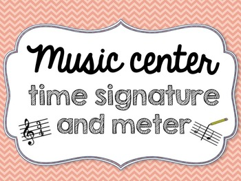 Music Center Time Signature and Meter - 4/4, 3/4, 2/4 meters