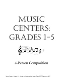 Music Centers Grade 1 to 5: 4 Person Composition