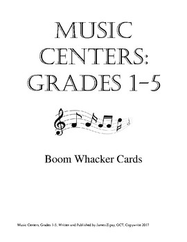Music Centers Grade 1 to 5: Boom Whacker Cards