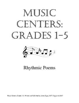 Music Centers Grade 1 to 5: Rhythmic Poems