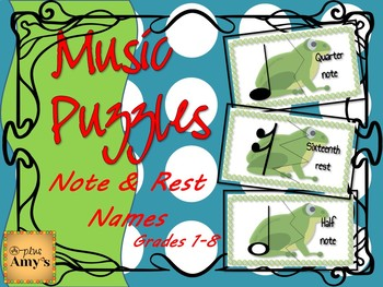 Music Centers: Note/Rest Name Puzzle