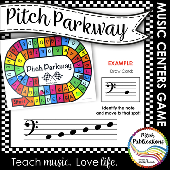Music Centers: Pitch Parkway - Bass Clef Customizable Game, Practice