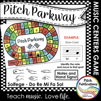 Music Centers: Pitch Parkway - Solfege Do Re Mi Fa Sol Game, Practice