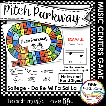 Music Centers: Pitch Parkway - Solfege Do Re Mi Fa Sol La Game, Practice