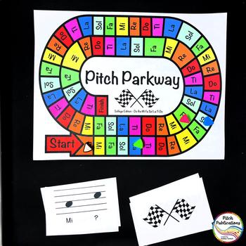 Music Centers: Pitch Parkway - Solfege Do Re Mi Fa Sol La Ti Game, Practice
