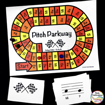 Music Centers: Pitch Parkway - Solfege Do Re Mi Game, Practice