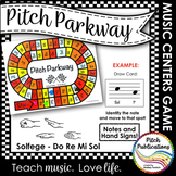 Music Centers: Pitch Parkway - Solfege Do Re Mi Sol Game,
