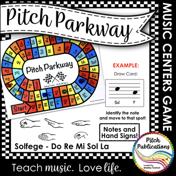 Music Centers: Pitch Parkway - Solfege Do Re Mi Sol La Game, Practice