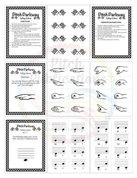 Music Centers: Pitch Parkway - Solfege Games {BUNDLE}