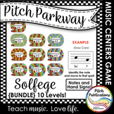 Music Centers: Pitch Parkway - Solfege Games {BUNDLE}  practice note reading!
