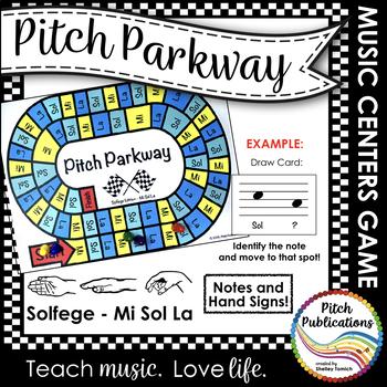 Music Centers: Pitch Parkway - Solfege Mi Sol La Game, Practice