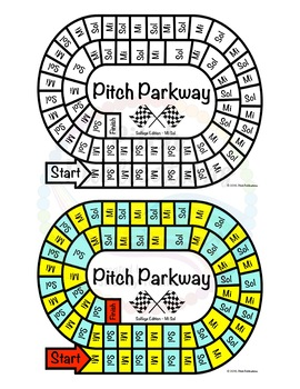 Music Centers: Pitch Parkway - Solfege Sol Mi Game, Practice
