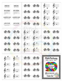 Music Centers: Pitch Parkway - Treble Clef Customizable Game, Practice