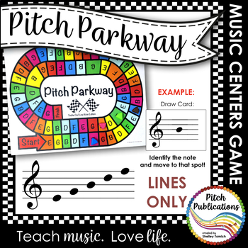 Music Centers: Pitch Parkway - Treble Clef LINE NOTES ONLY