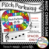Music Centers: Pitch Parkway - Treble Clef SPACE NOTES ONL