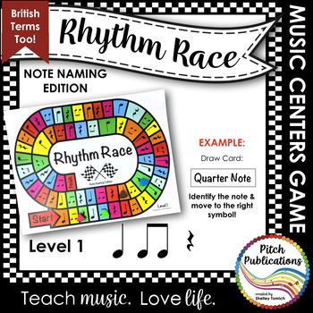 Music Centers: Rhythm Race Note Naming Edition Level 1 - Rhythm Game