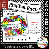 Music Centers: Rhythm Race Note Naming Edition Level 1 - R