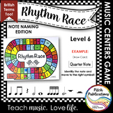 Music Centers: Rhythm Race Note Naming Edition Level 6 - R